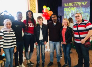 Foreign Students Of KBSU Met Spring With Children From School-Board №1