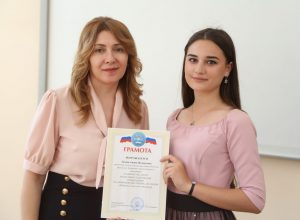 "On the last day of spring in the Kabardino-Balkarian State University named after H. M. Berbekov honored the winners and prize-winners of the social and humanitarian direction of the 60th anniversary scientific conference of KBSU. Berbekov's reading is a traditional competition of scientific and research work of students of the social and humanitarian Institute of KBSU, which is held at the university for the 14th time. This year, he brought together more than 180 people in 12 sections. The fact that reading has acquired the status of open, says the fact that the number of participants from other educational units of the university is expanding every year. ""It is great that so many students actively manifest themselves in scientific conferences, because the highest goal of university studies is to become scientists. All your knowledge and skills should be manifested in scientific work, because a specialist with deep knowledge is always a sought-after person who has a high level of income"", - Muslim Tamazov, Director of SGI KBSU, addressed the students with a welcoming speech. The winners and prize-winners of the conference were congratulated by the vice-rector of the university for research work Svetlana Khashirova and the section supervisors. ""It is very nice to see so many young scientists here. I would like to wish you further success, so that you do not stop there, but continue to work further, write bachelor's, then master's theses, go to graduate school. I am sure that, without knowing the history, one cannot be a truly educated person. History lessons help us understand the present and predict the future. Therefore, it is very important that so many young people not only study in this direction, but also participate in scientific conferences"", - noted the vice-rector. Also, Svetlana Khashirova, as Vice-Chairman of the Russian Union of Young Scientists, urged KBSU students to register on the Union's website and actively participate in the public activities of the organization. Then, the Vice-Rector together with the Deputy Director of the Institute of Hydrometeorology, Khakim Gegraev, presented diplomas to the winners and prize-winners of the 14th Berbekov Readings."