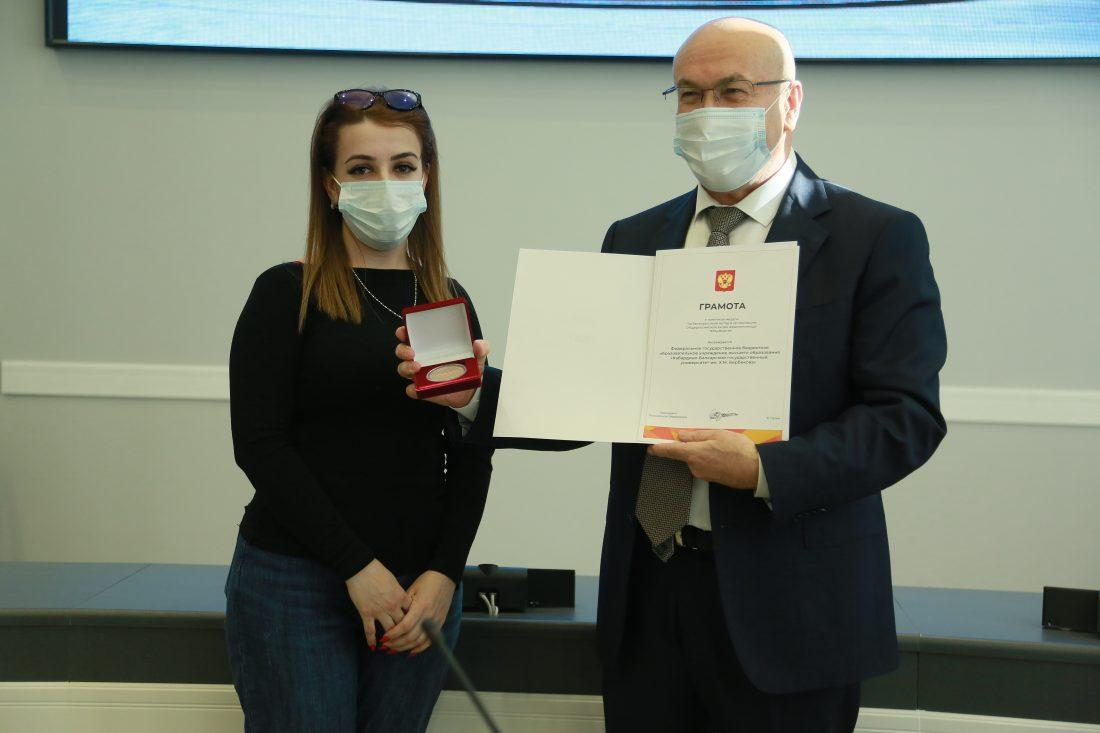 Putin awarded KBSU for help during the pandemic